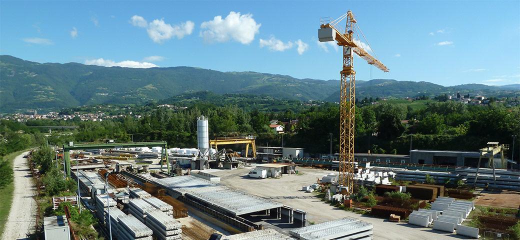 La sede dell'azienda PAC srl Prefabbricati in cemento armato Veneto