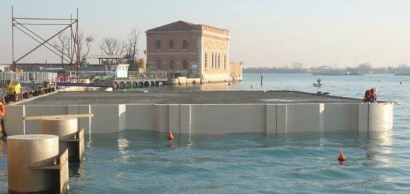 Terminate le attività di costruzione del pontile dell'Arsenale di Venezia